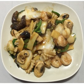 60. Seafood Treasure With Mandarin Sauce