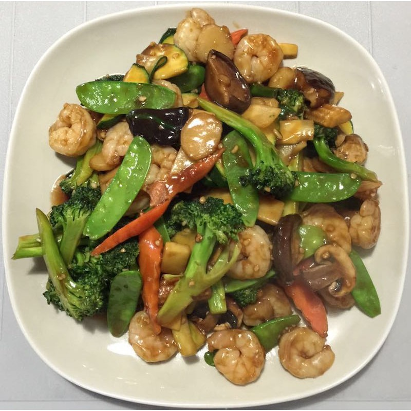 Shrimp with Mixed Vegetables, delicious with Steam rice or ...  |Shrimp With Mixed Vegetables