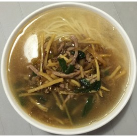 45. Pickled Cabbage Shredded Pork Noodle Soup
